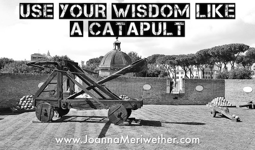 use your wisdom like a catapult
