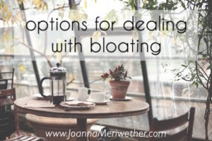 options for de-bloating